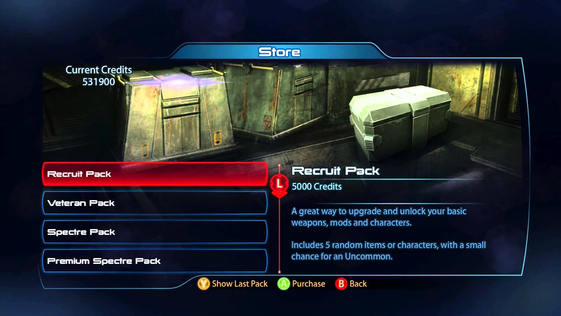 Mass Effect 3's Loot boxes, bought either through gameplay or real-world currency. Research into the packs went to an extreme amount of depth, down to the sounds of opening packs just to ensure players would feel like they were getting value.