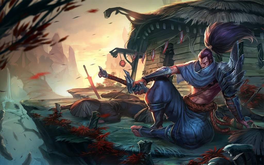 A character in League of Legends, Yasuo.  His login theme  was played with a Japanese Flute, and is one example of the incredible range of music that League of Legends incorporates