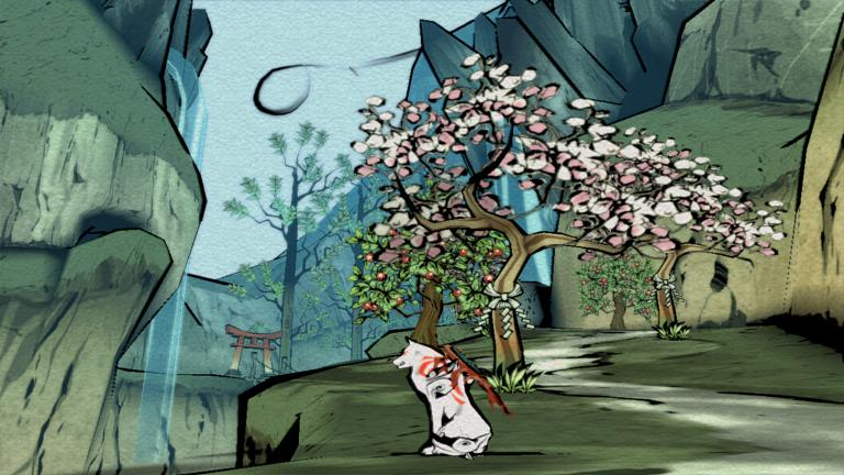 Believe it or not, this is a screenshot of Okami, and not a painting done hundreds of years ago
