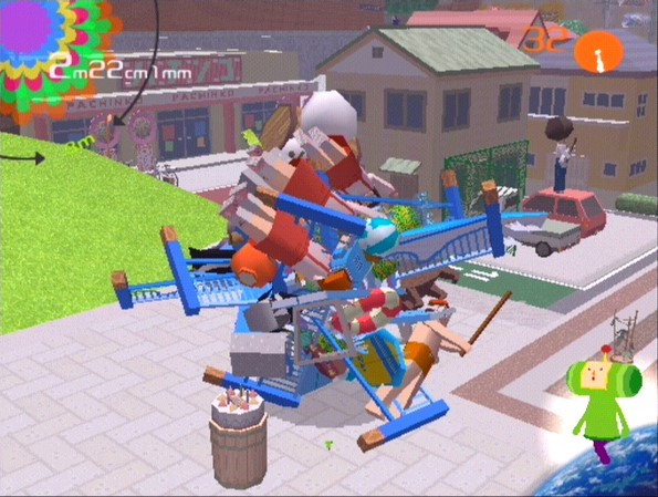 """The original  Katamari Damacy  for Playstation 2. The title translates to """"clump spirit"""" or """"cluster soul"""" and was originally an experimental game borne of a school project."""