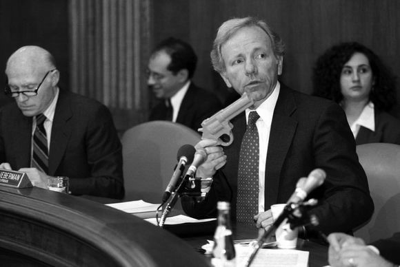 Sen. Joseph Lieberman during a 1993 Congressional hearing on violence in video games.