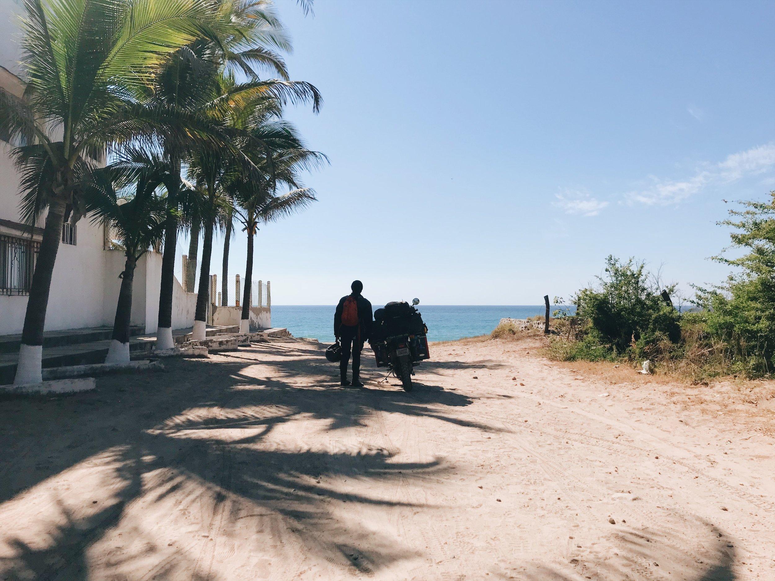 The end of the road. Barra de Navidad