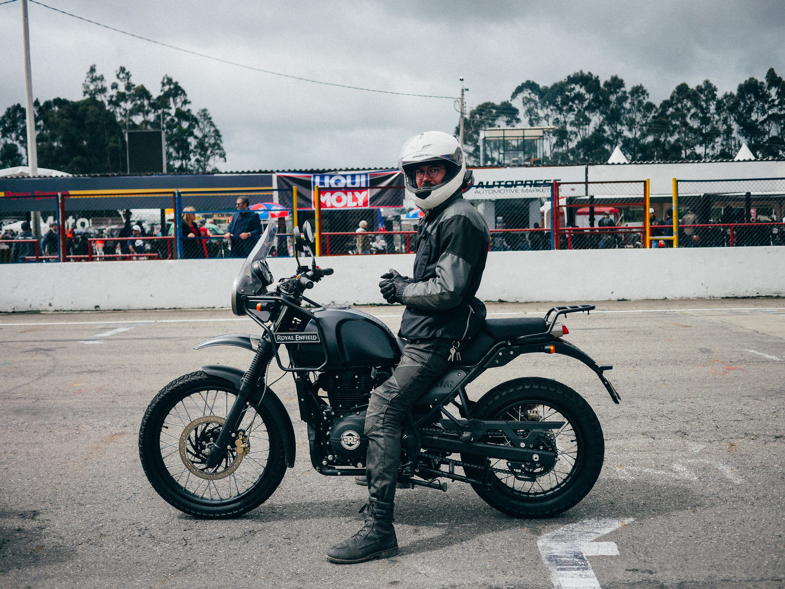 Nathan and the Royal Enfield Himalayan dress to kill