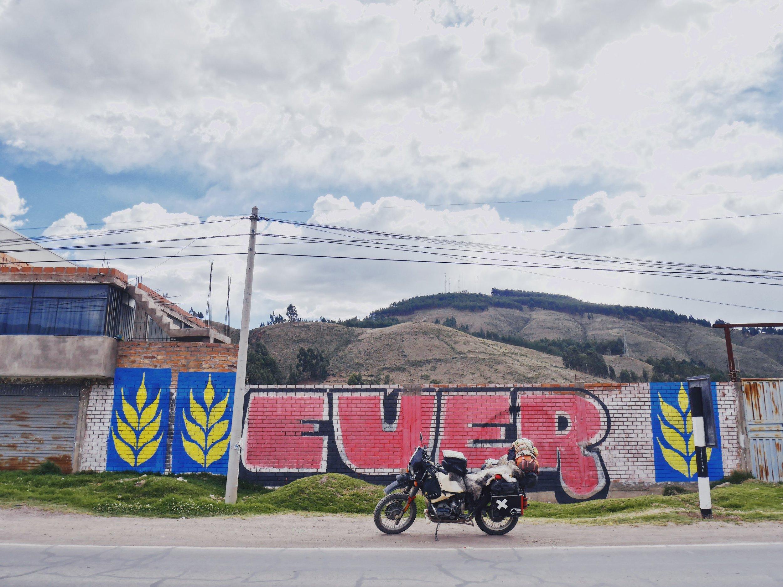One of the innumerable political murals in rural Peru