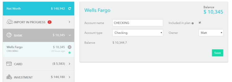 account aggregation in financial planning software free