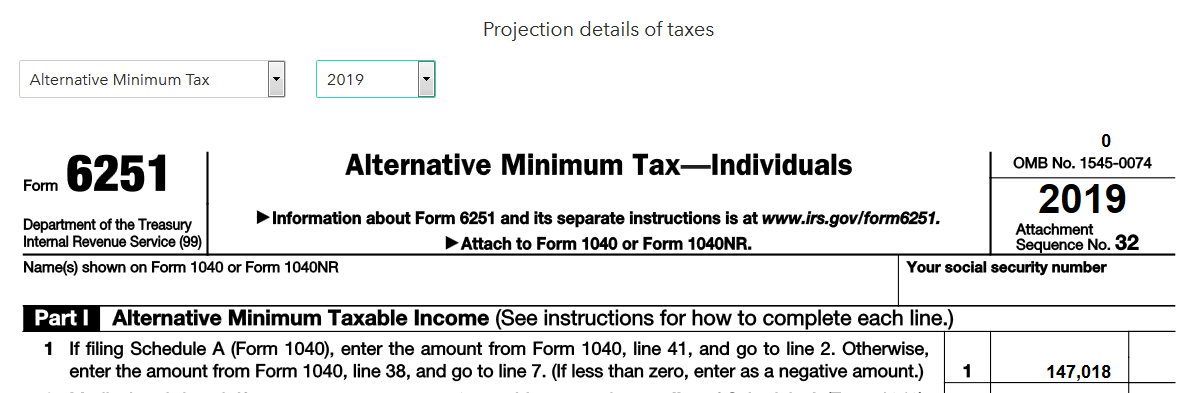 financial planning tax forecasting