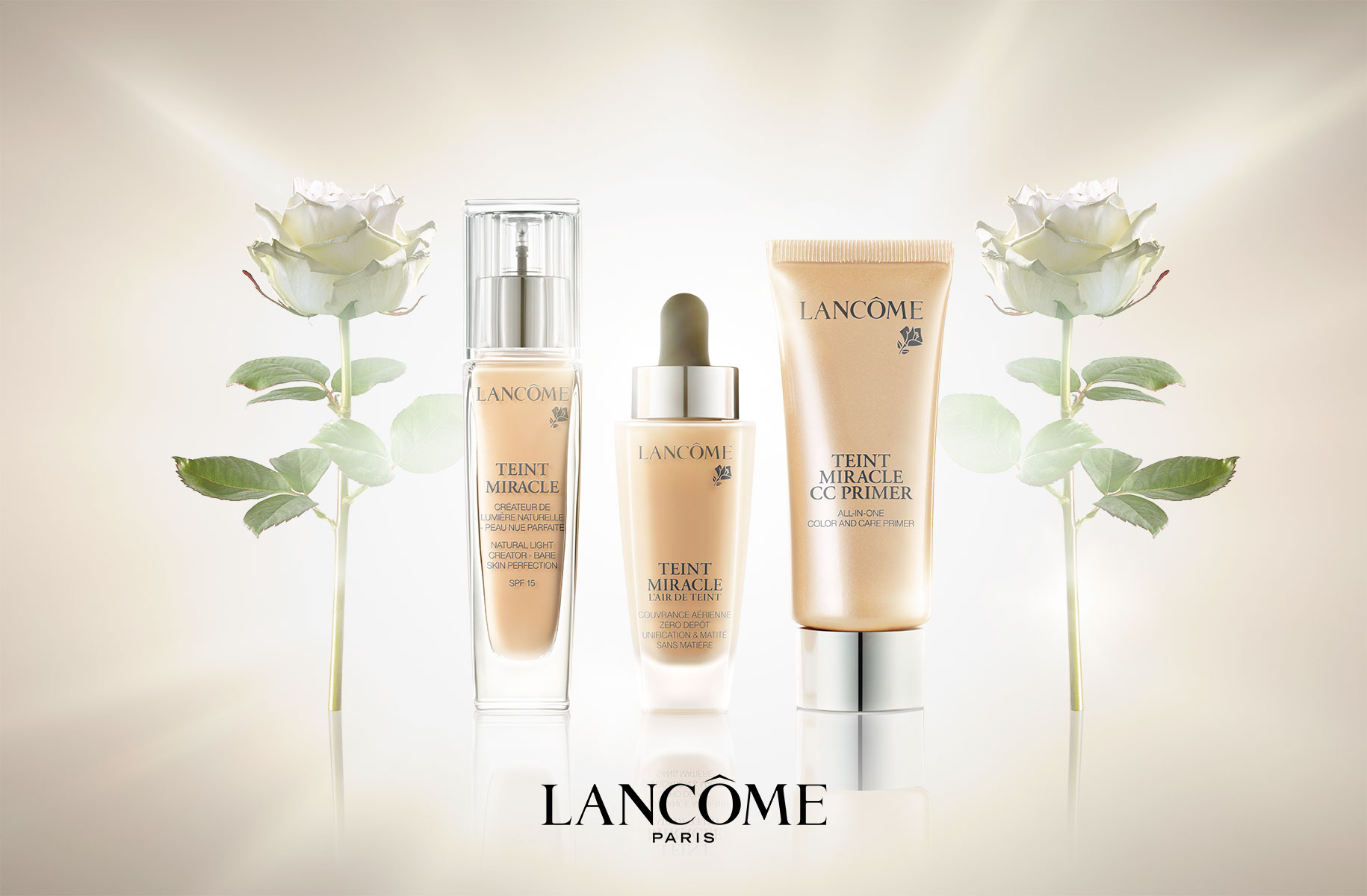 Lancome, Foundation, Cosmetics, Flower