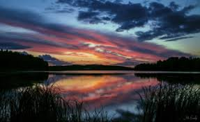 calming lake scene