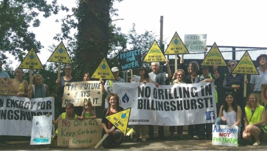 Broadford Bridge Billinghurst protests