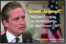 greed is good gekko