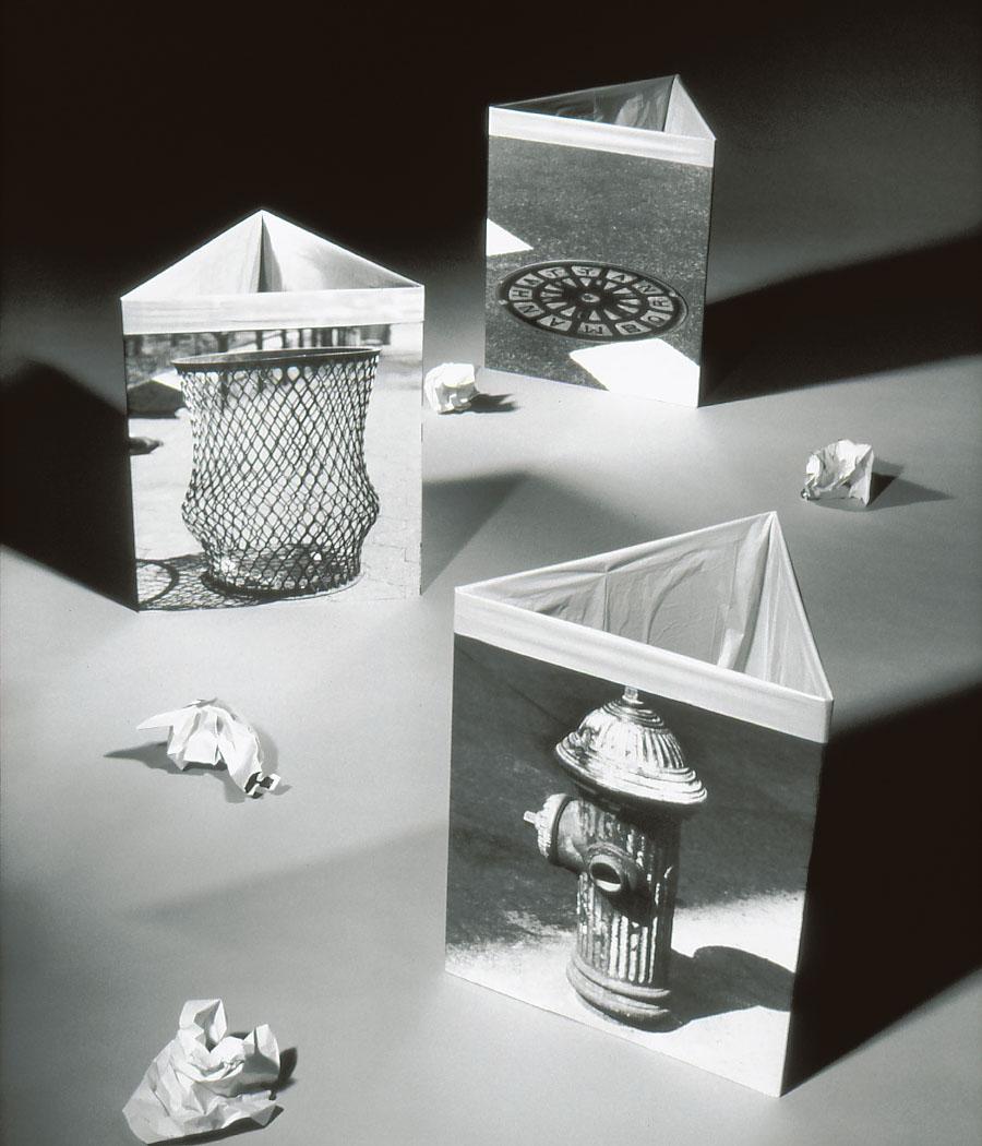 Creative waste basket garbage can design