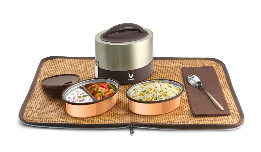 Innovative lunchbag bento design placemat