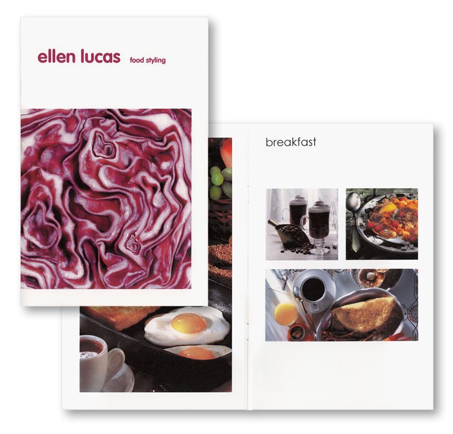 Food styling brochure design