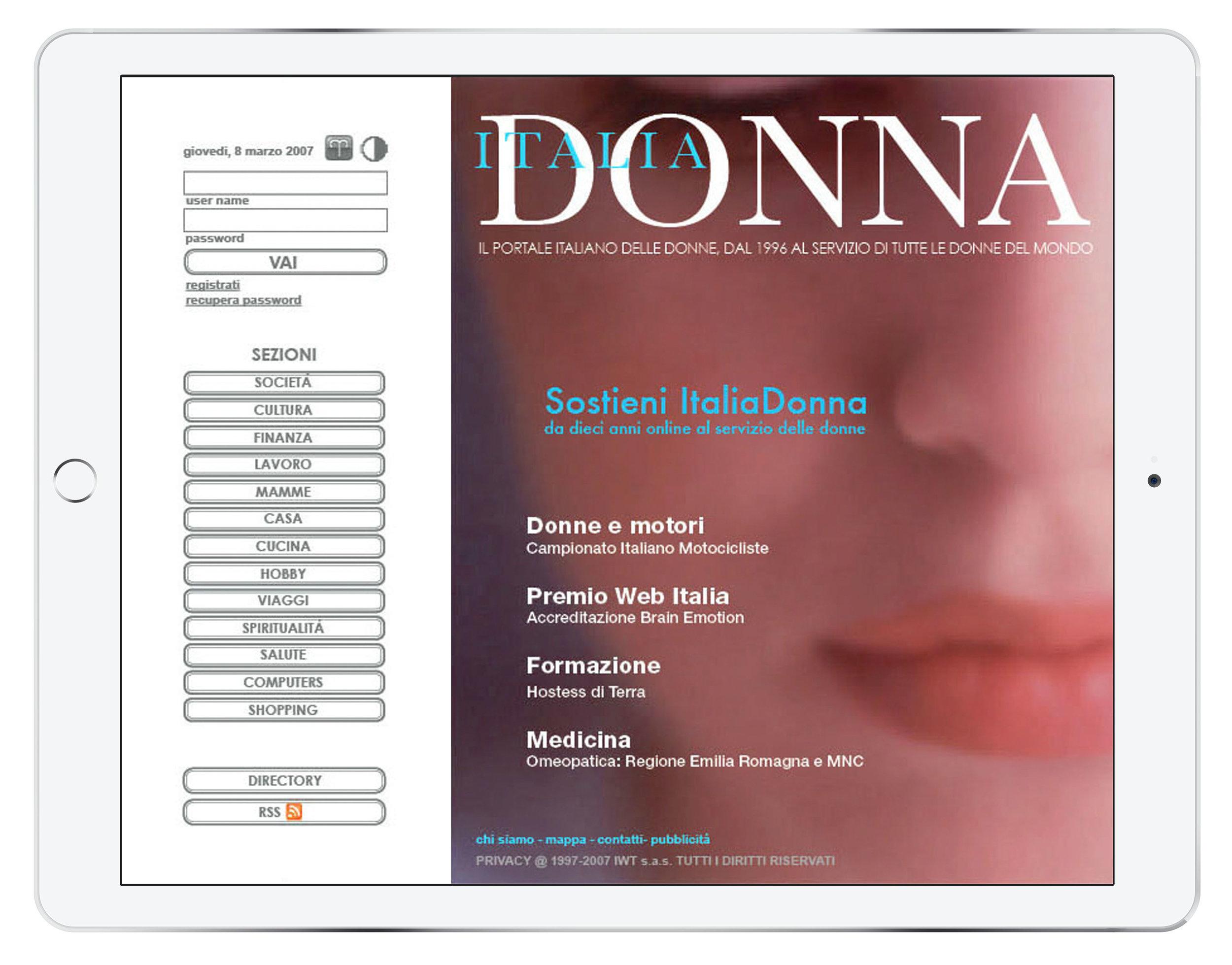 Magazine online design