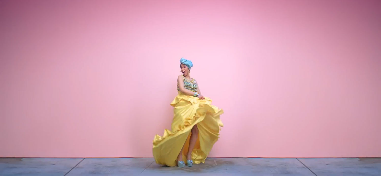 """I Like It"" music video ft. J. Balvin and Bad Bunny from Cardi B.'s  Invasion of Privacy  album."