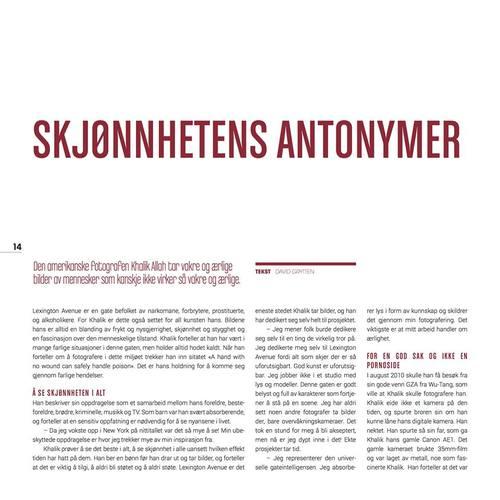 FREKVENS MAGAZINE, NORWAY PAGE 14