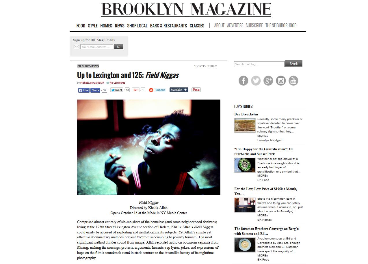 Brooklyn Magazine Write-Up