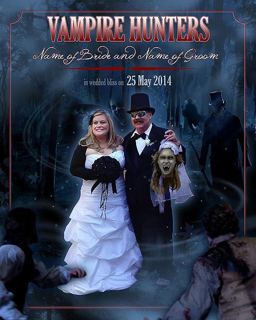 Vampire Hunter wedding photo