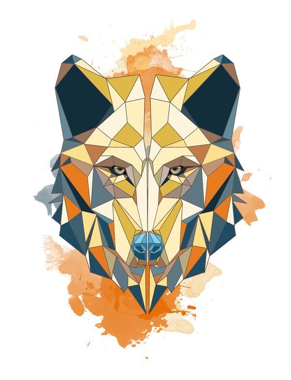 Geometric Styled Wolf