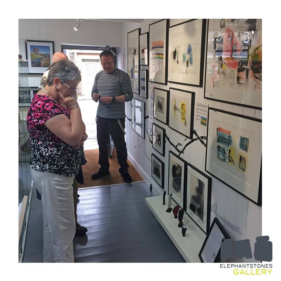Ron and Sue (Harry Ousey's niece) visiting the exhibition.