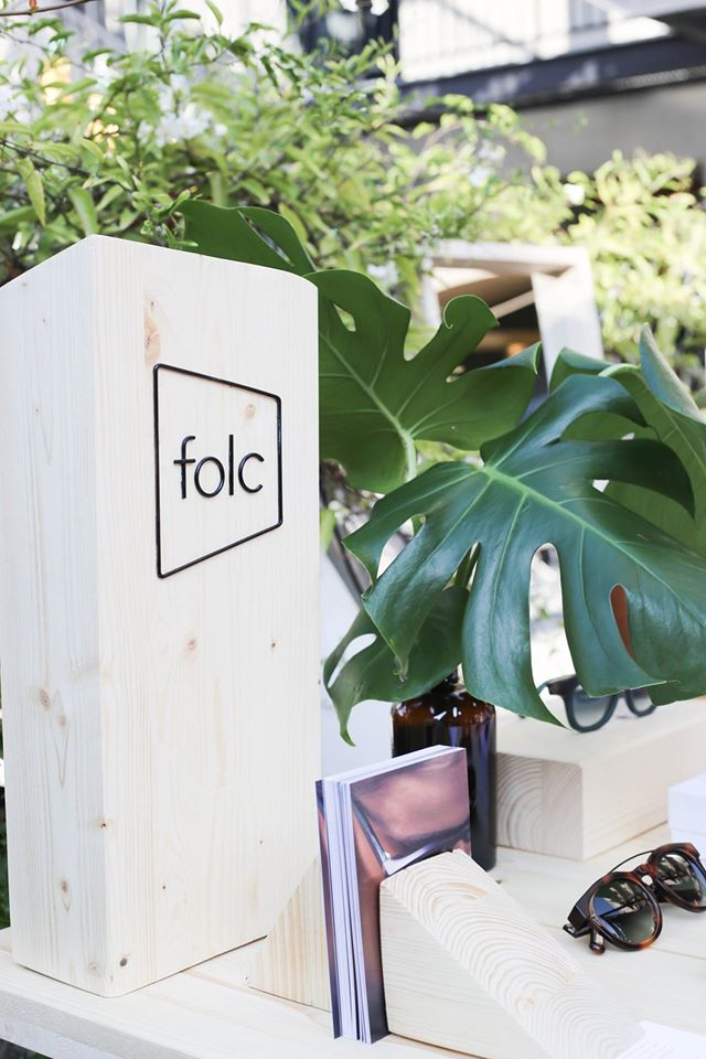 Folc eyewear at My Barrio boutique pop up store at Hotel Brummell in Barcelona. September 16.