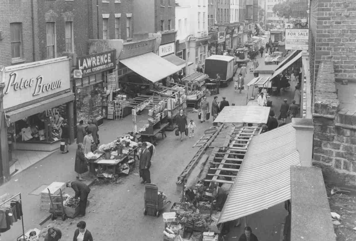 Exmouth Market in 1968 (photo via  British History Online )