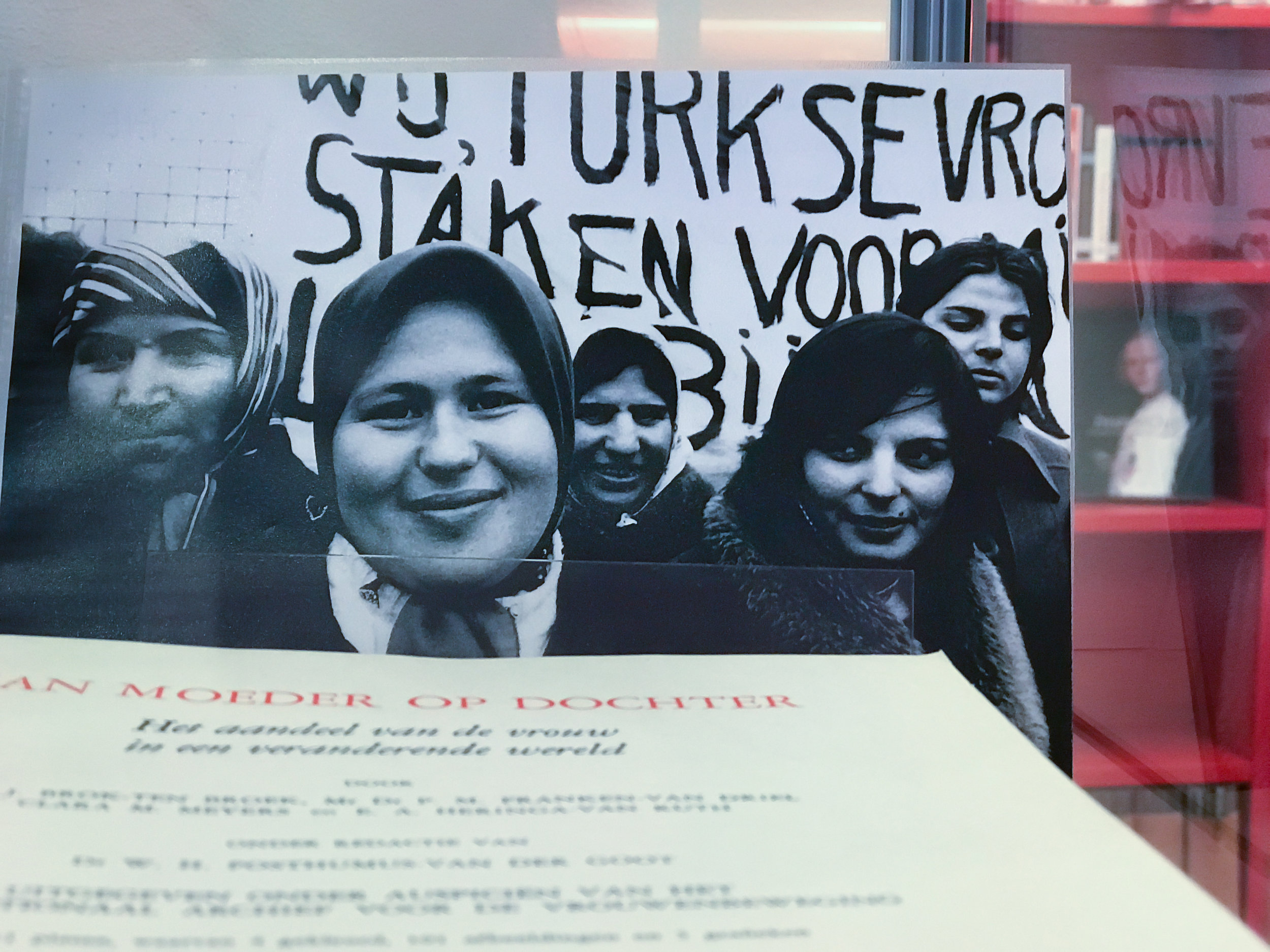 the future is female, then - In 1978, photographer Bertien van Manen, who was capturing the lives of female immigrant workers, photographed the first ever strike of Turkish women in the Netherlands at a chicken factory in Almelo. The women had to work 80 hours per week, were severely underpaid and underwent serious physical pain because they had to process the sizzling hot chicken meat with their bare hands.