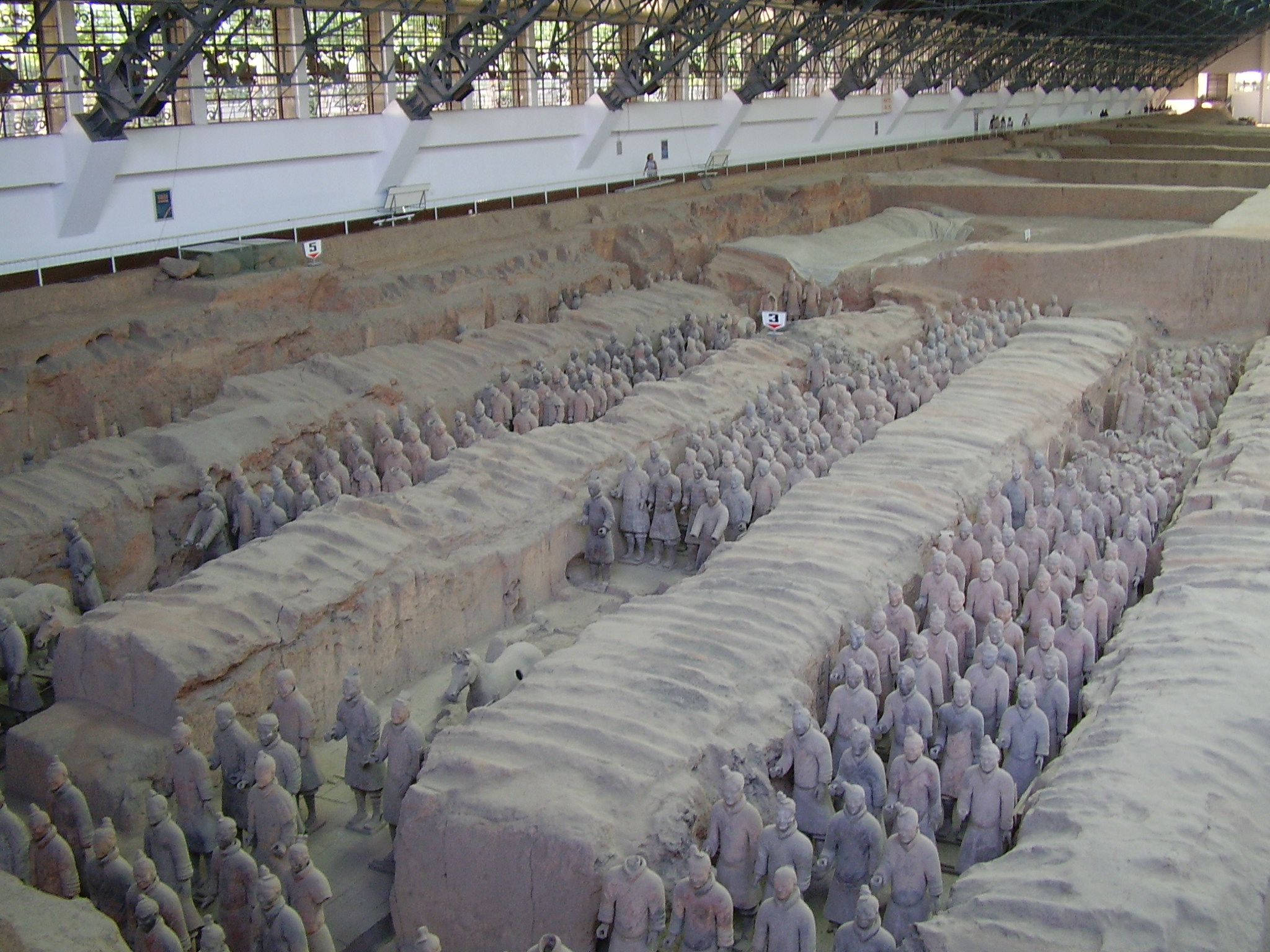 Still digging: Ten years on from my 2005 visit (pictured), terracotta armies are still being uncovered today.