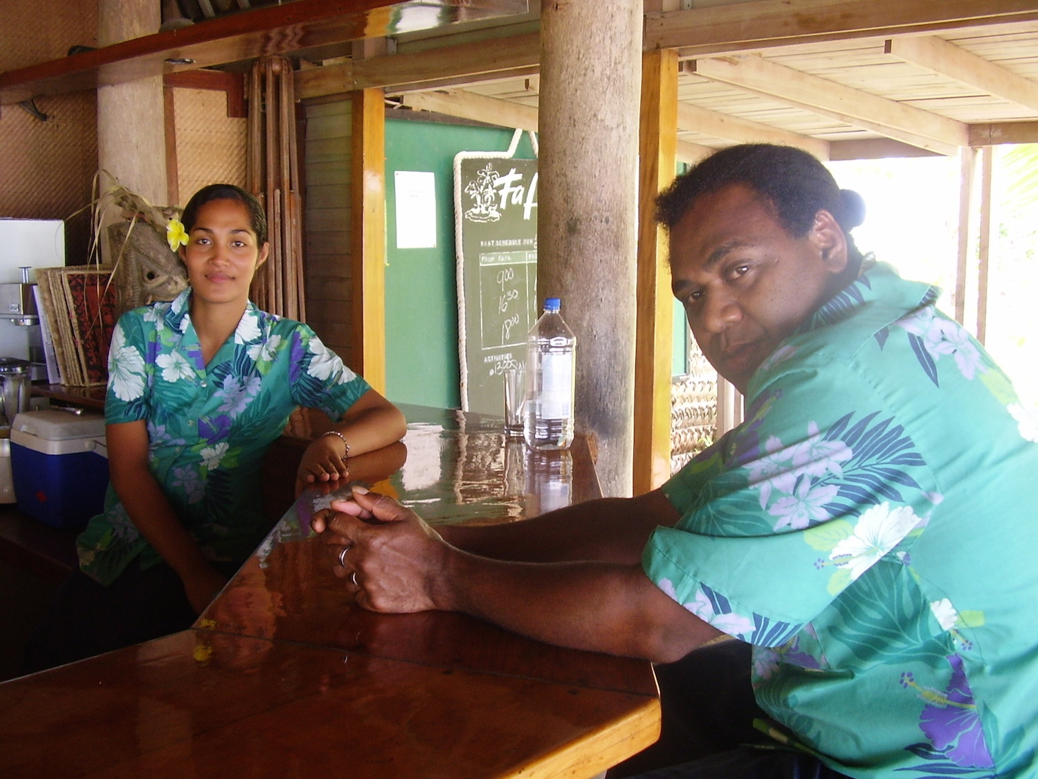 Pic: Staff at Fafa Island Resort
