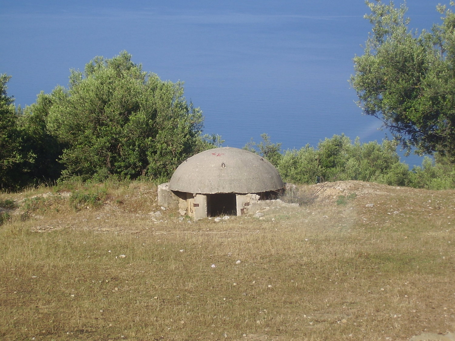 Pic: One of the ubiquitous Communist-era concrete bunkers