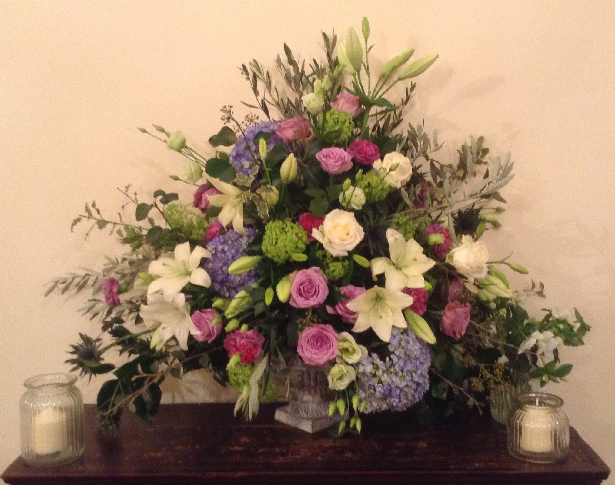 One of the smaller urns which I did.