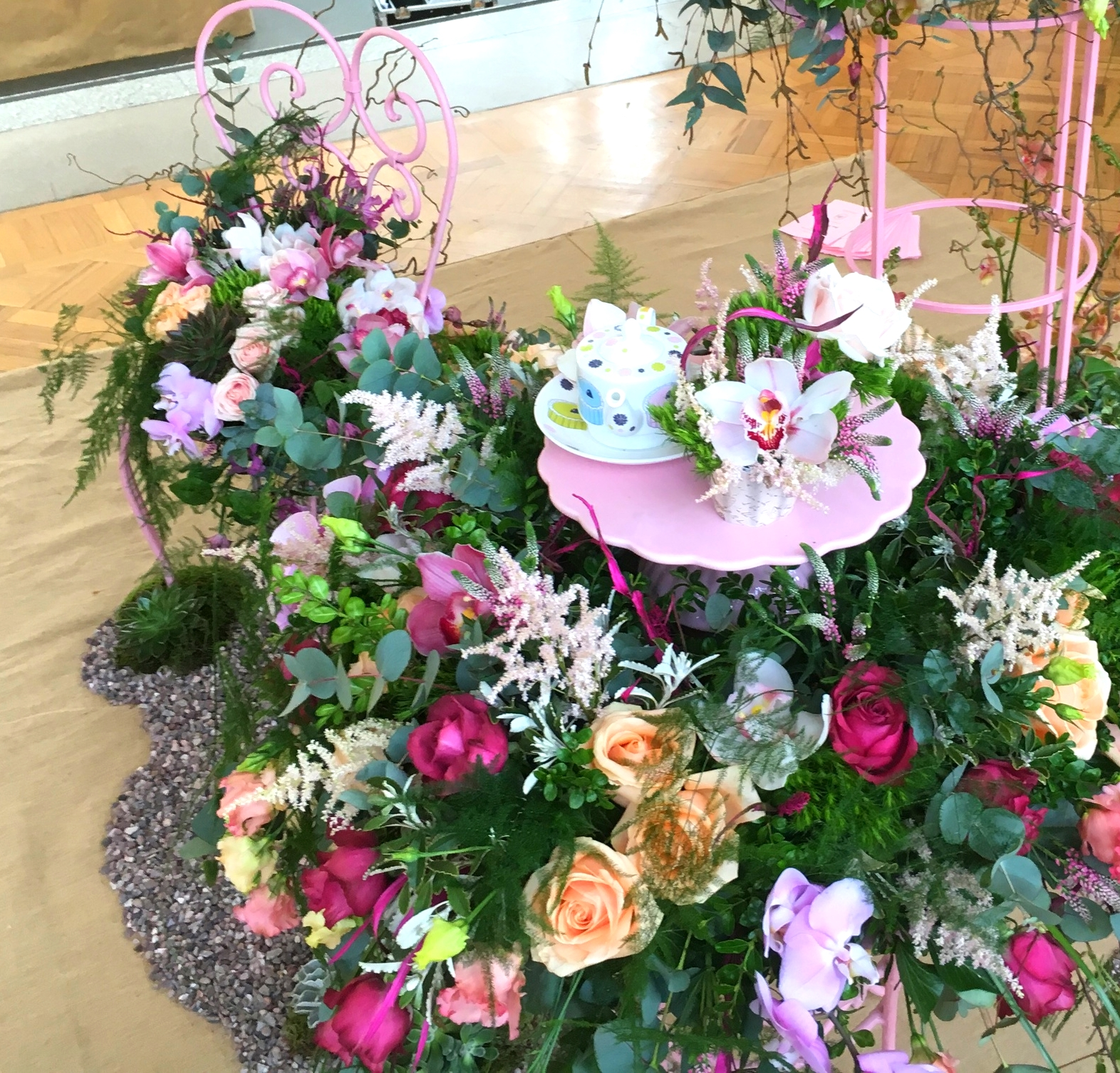 A charming floral exhibit from NAFAS at the RHS London Show.