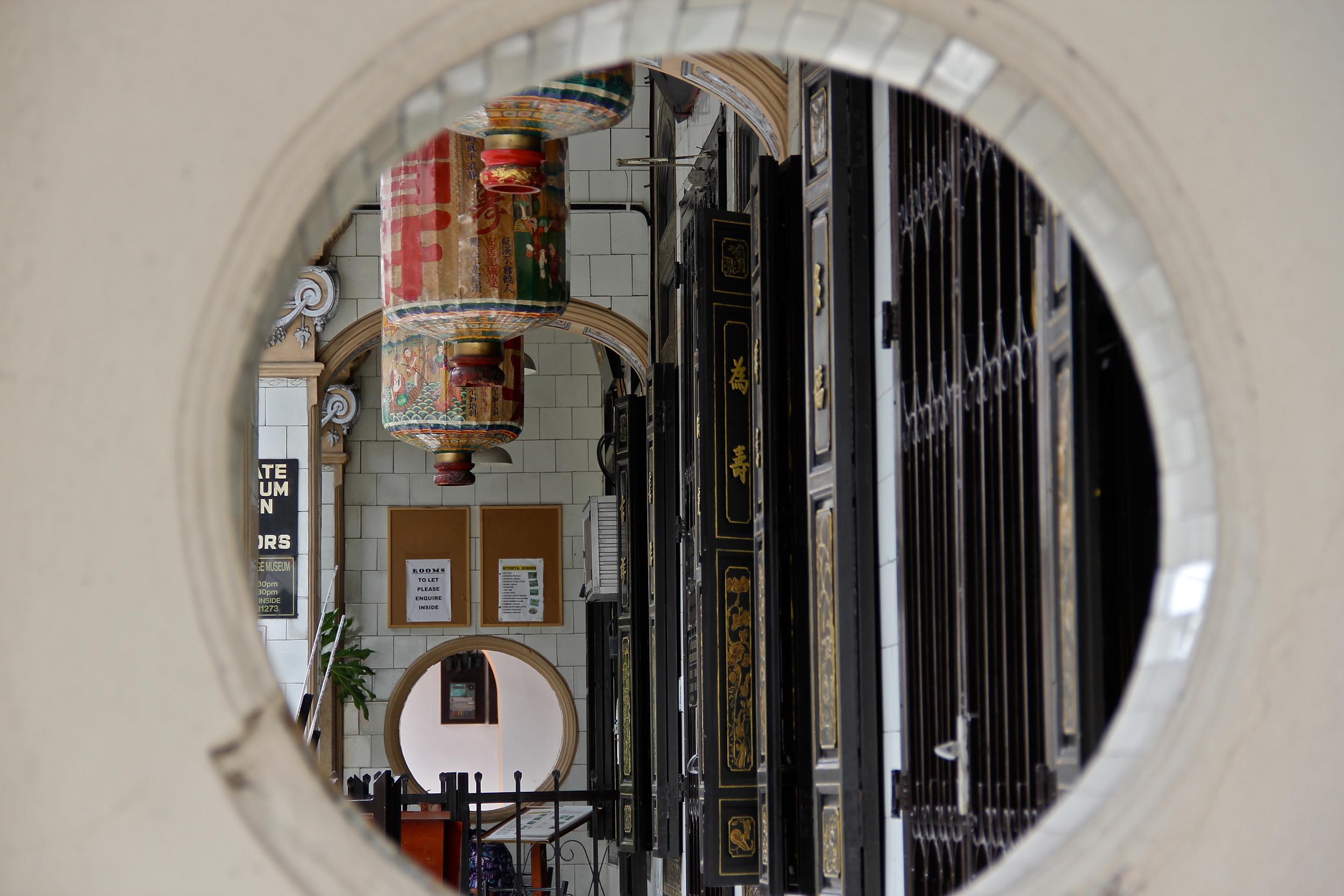 Chinatown through a Hole