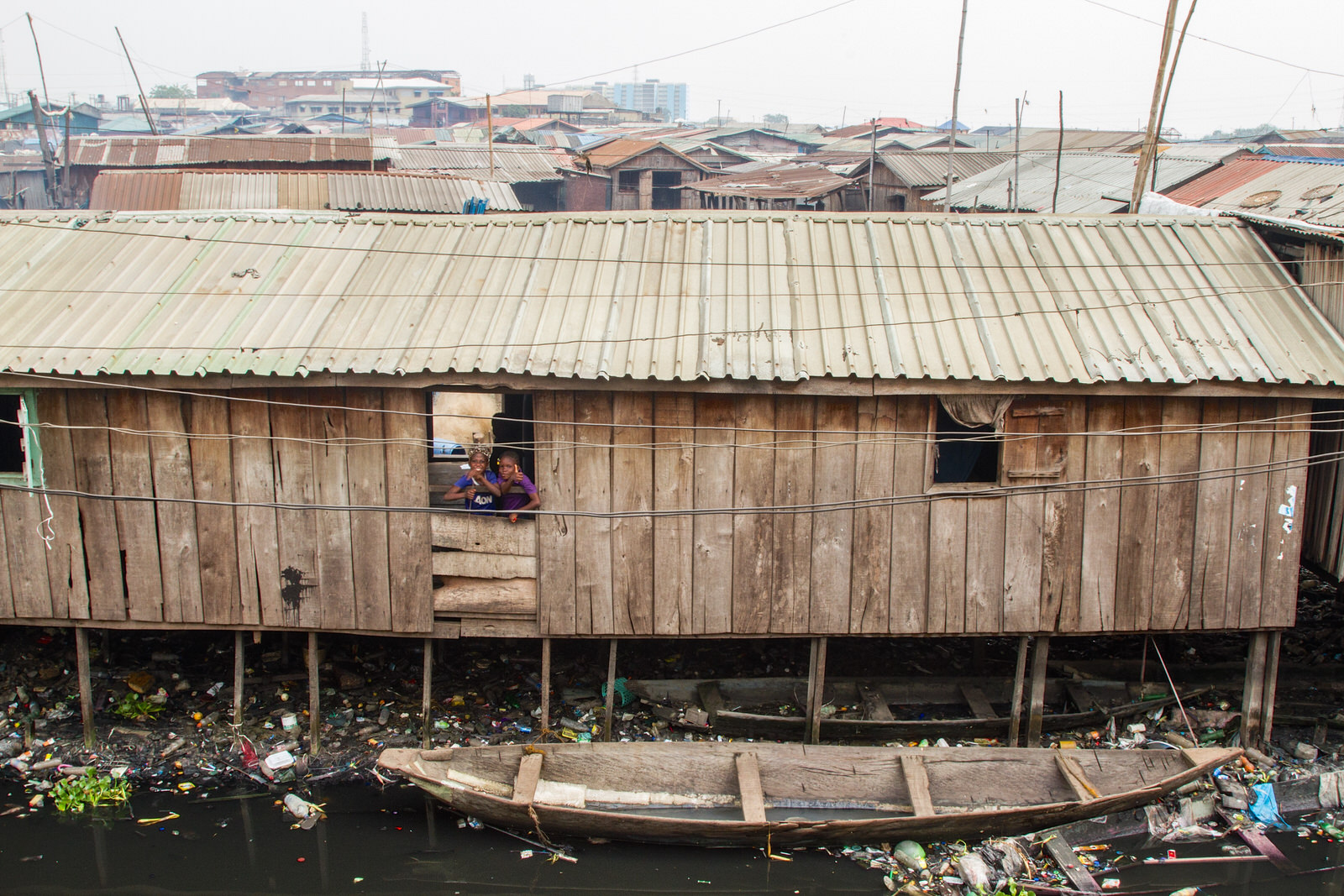 Makoko, was formed as a fishing village in the 19th Century. It is one of many waterfront communities in Lagos that live with a constant threat of eviction due to land-grabbing by the Lagos government.