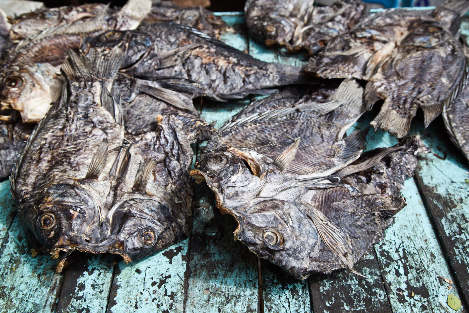 Dried tilapia from Lake Victoria - a common delicacy
