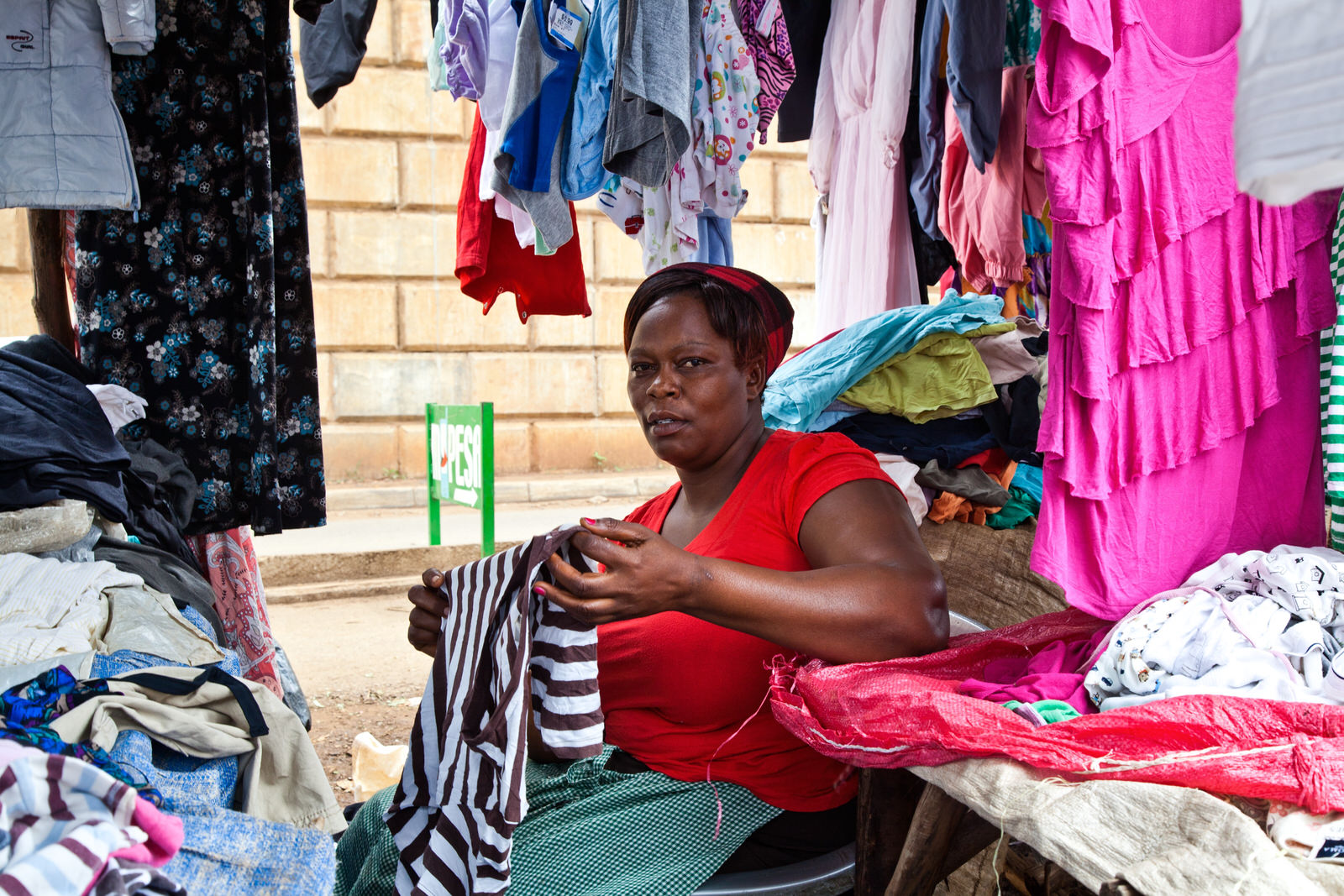 """Rose    moved to Kondele having been evicted from Oile market. Business is not good compared to Oile, but """"at least here we can get our daily bread""""."""