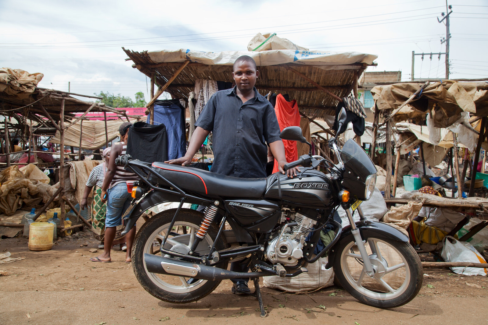 """Master Yosfat  was evicted from Oile market, and is worried as Kondele is likely to be moved too. Since he was evicted he has faced many challenges and has lost many customers. """"What we need is stability""""."""