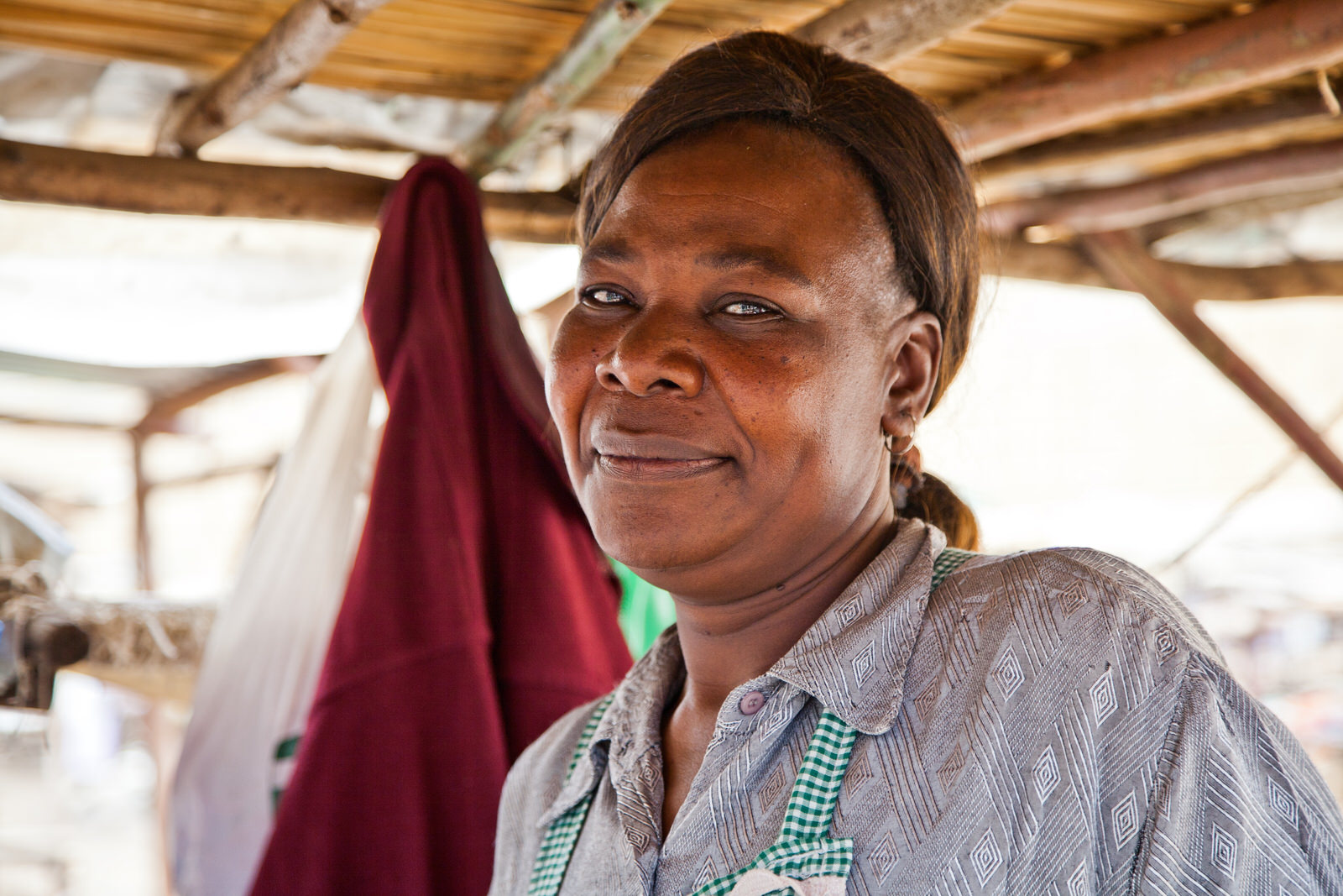 Mildred has successfully rebuilt her trading networks at Kondele, and is now the secretary of her savings and loans group. Her aspirations are to own a shop and to build a home for her and her daughter.