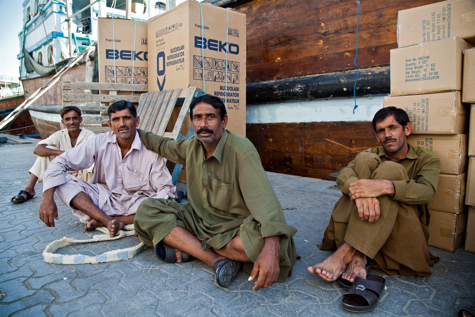 Merchants on the dhow wharf