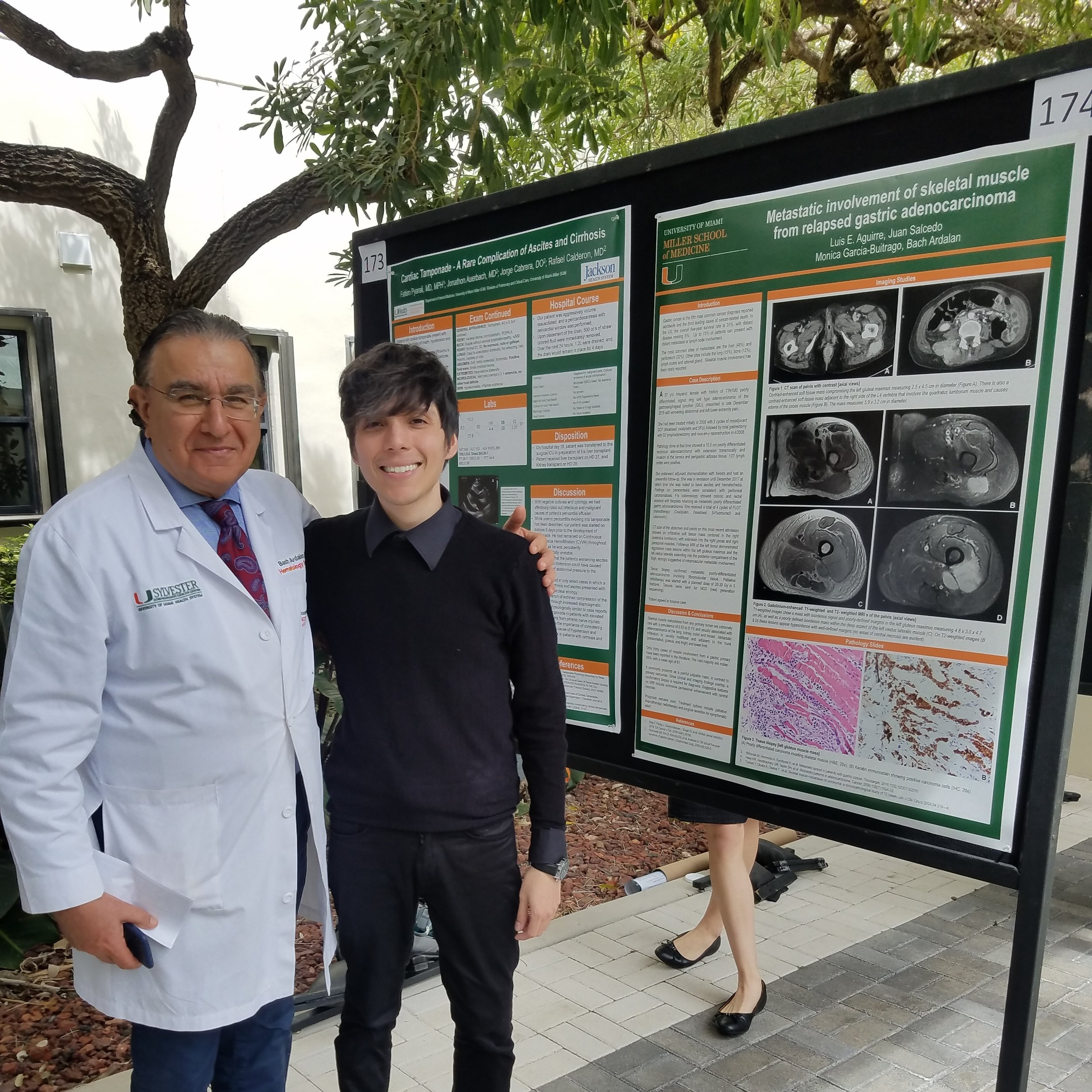 Luis and his mentor at DOM research day.jpg