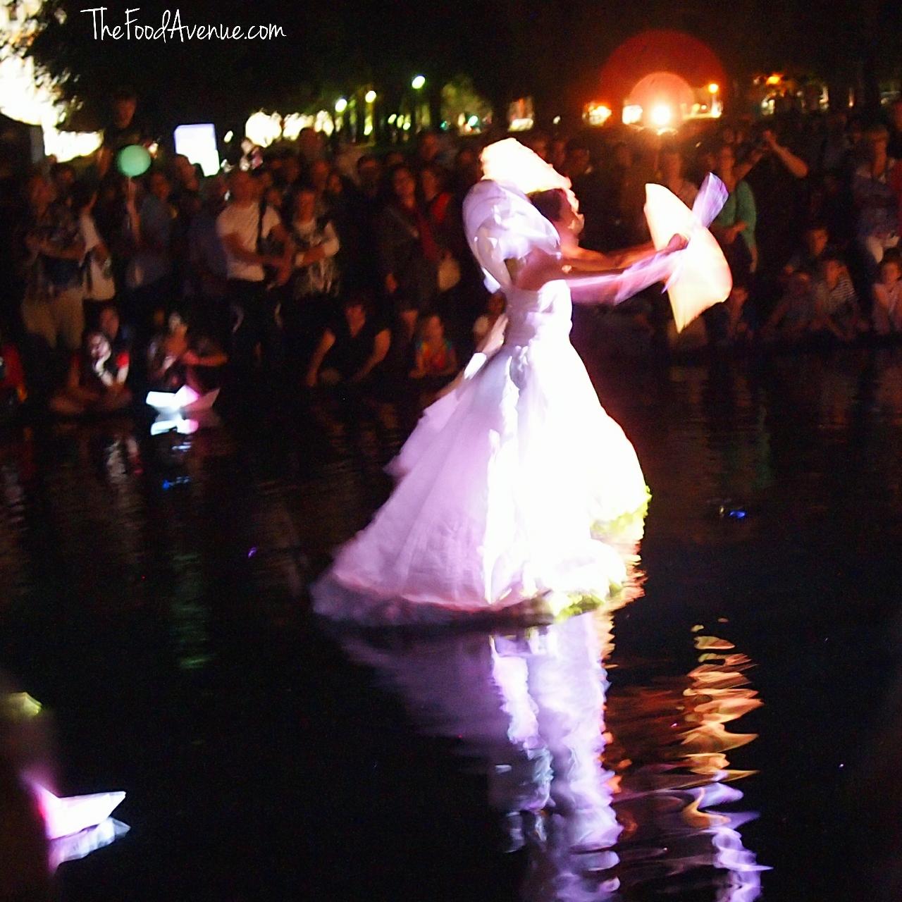 Floating lady