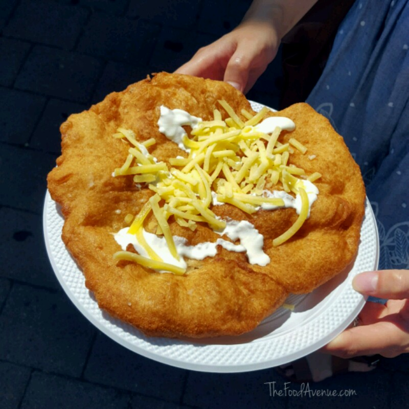 Hungarian Langos with the lot $8