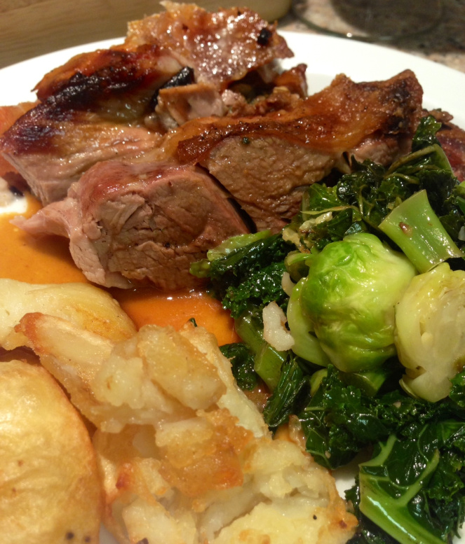 Slow cooked roast lamb