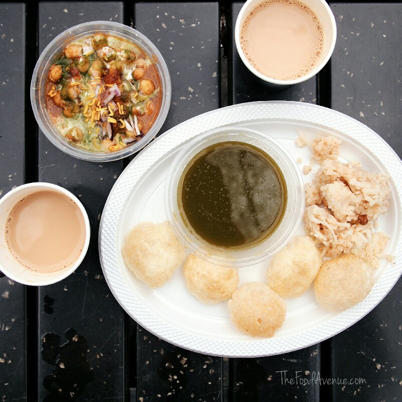 Tikki Chaat,Pani Puri and Chai Tea