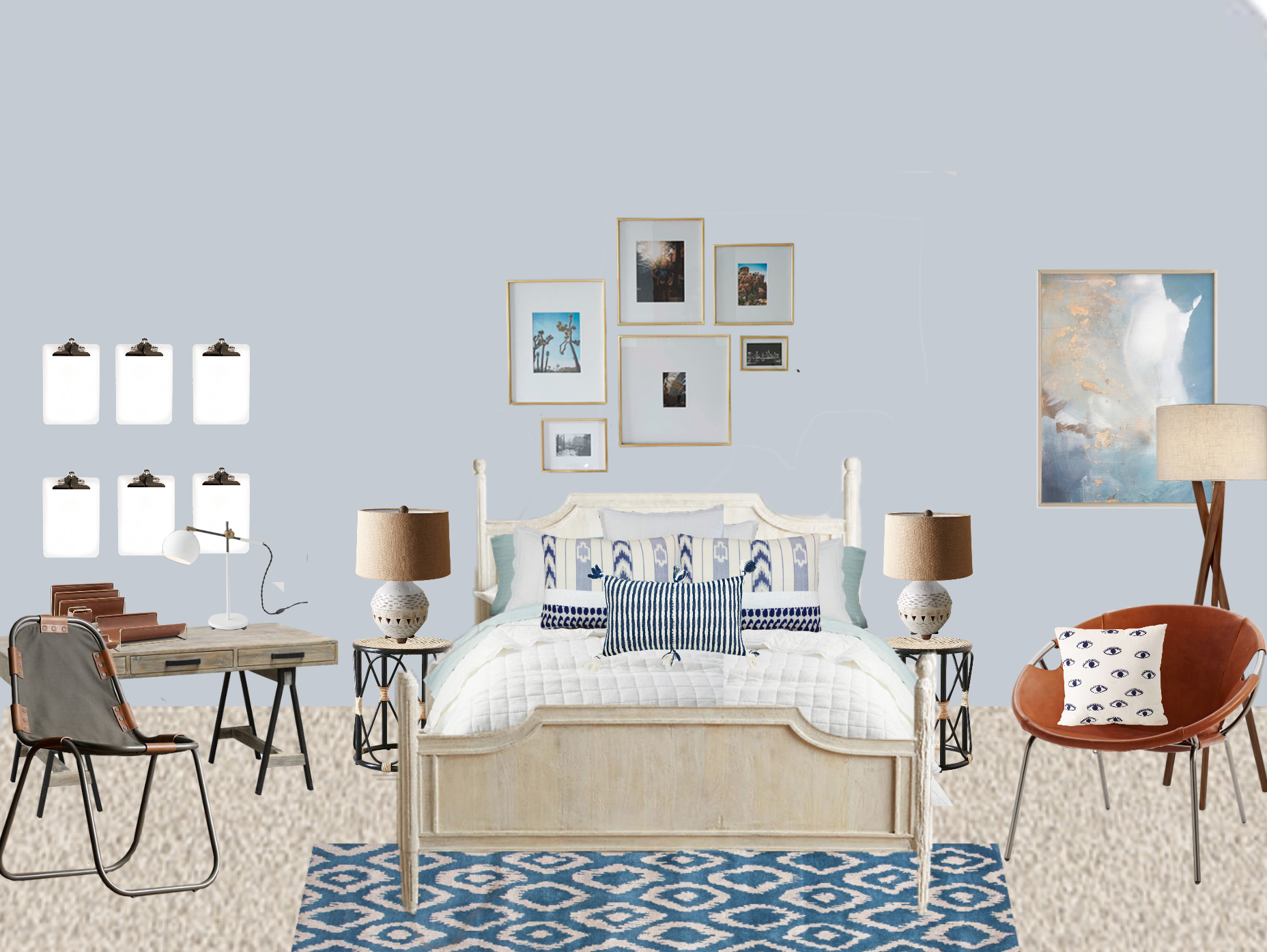 Eclectic Girls Bedroom Concept B