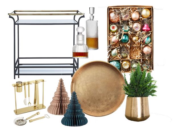 Holiday Bar Cart Styling