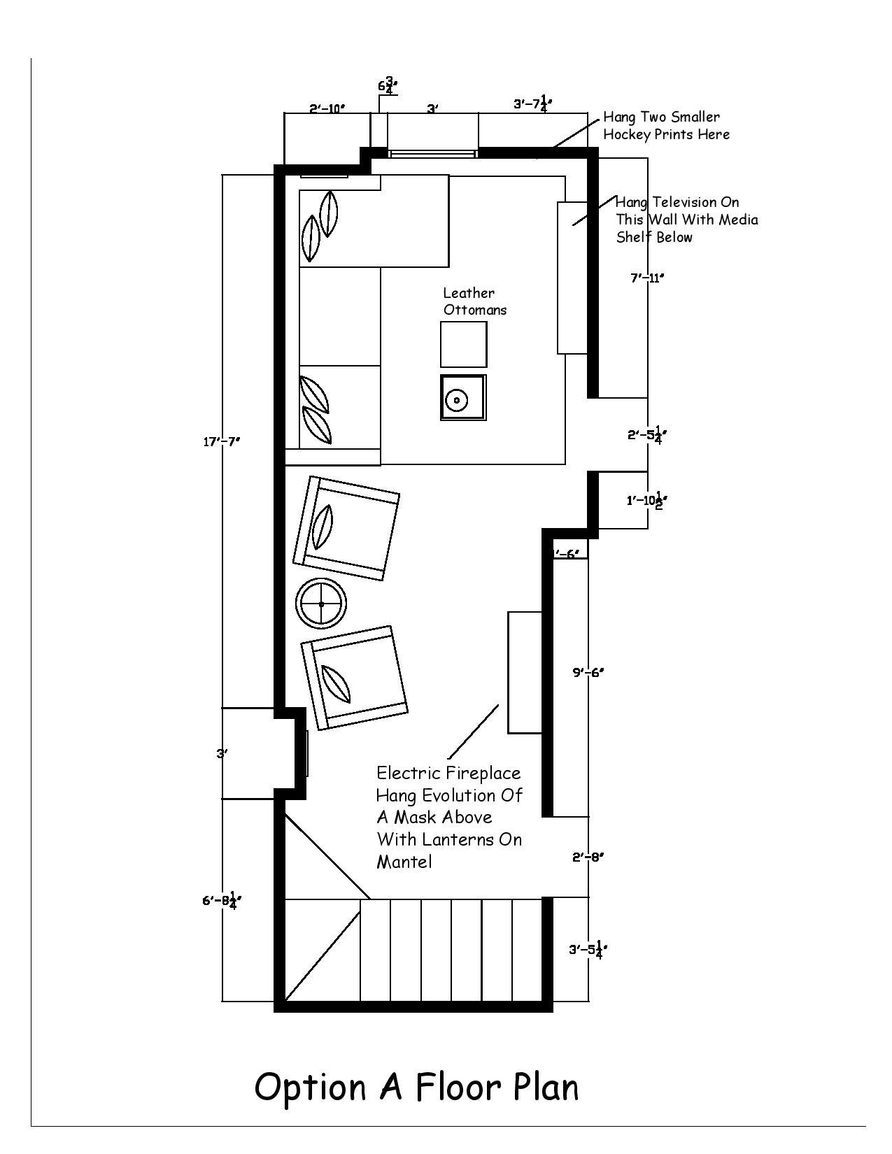 Modern Farmhouse Basement Option A Floor Plan