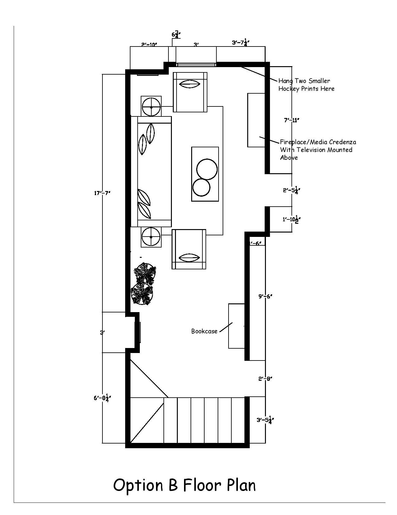 Modern Farmhouse Basement Option B Floor Plan