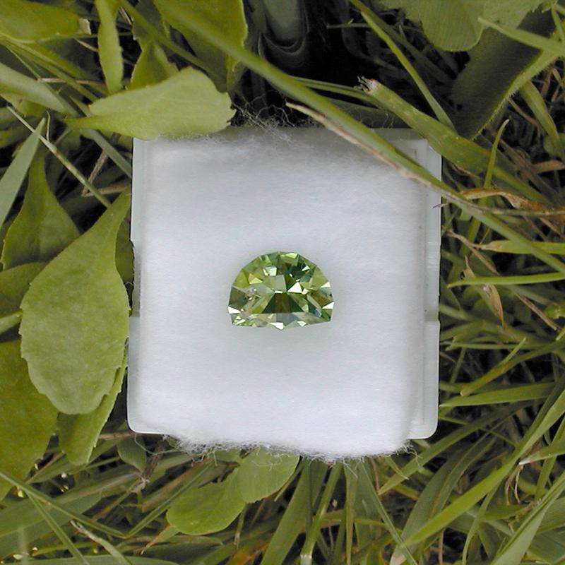 Green Flash design in Norwegian peridot (1.8 ct)