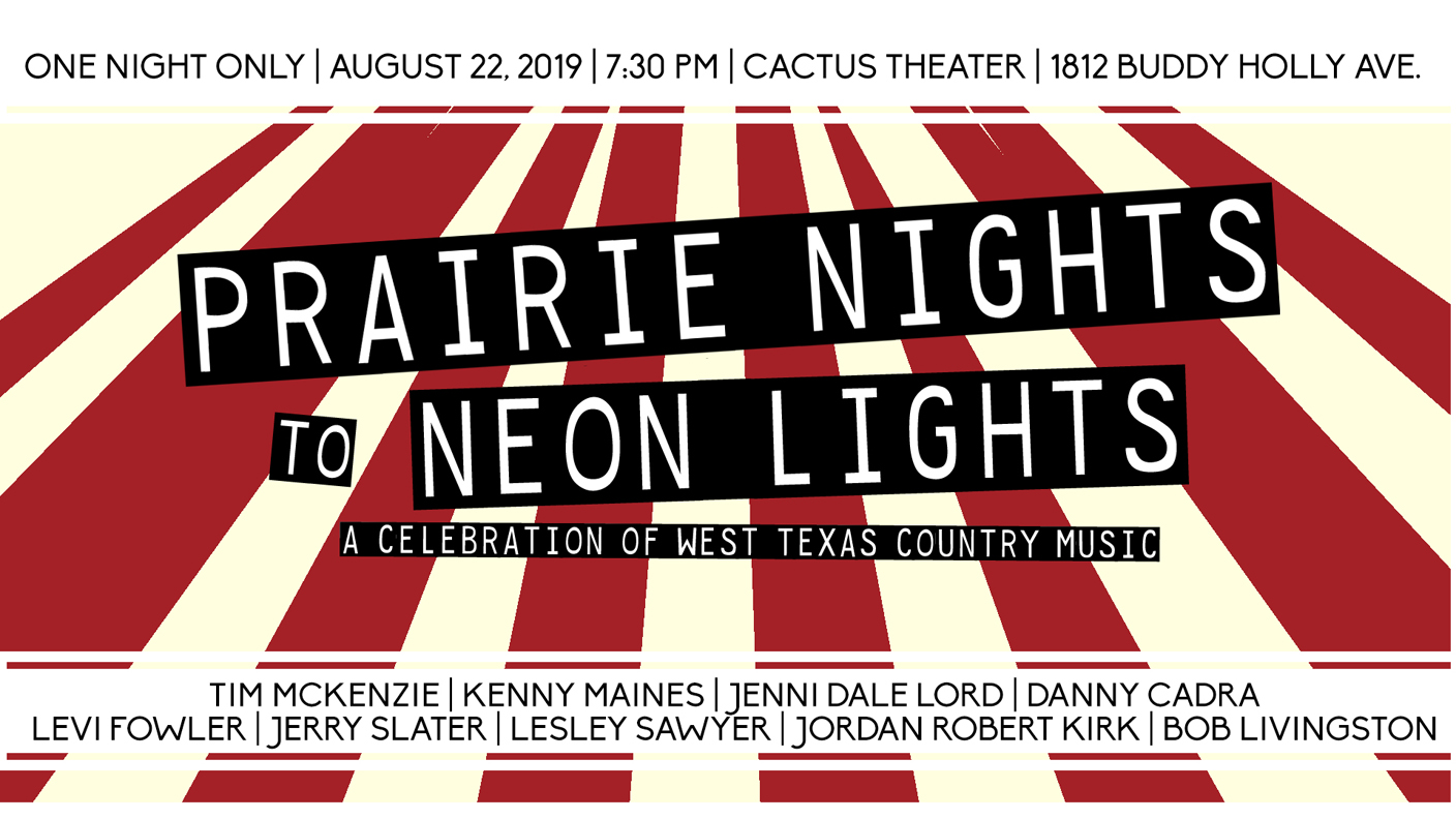 AUG 22: Don't miss this very special night celebrating West Texas music traditions!